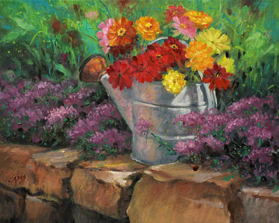 Garden Treasure Art Print by Linda Eades Blackburn