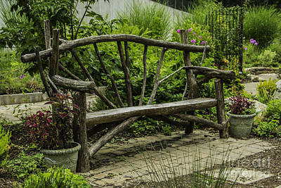 Photograph - Garden Tree Bench by Allen Nice-Webb