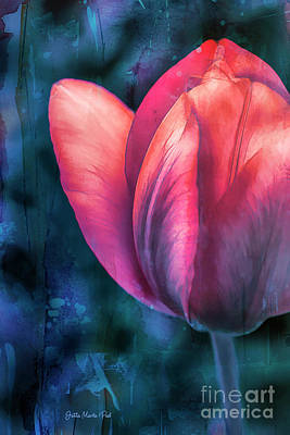 Digital Art - Garden Tulip by Jutta Maria Pusl