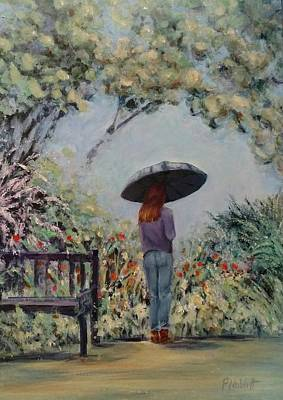 Wall Art - Painting - Garden Umbrella by Paula Noblitt