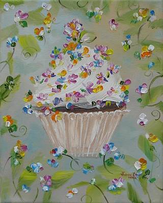 Painting - Garden Variety Cupcake by Judith Rhue