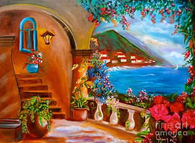 Garden Veranda 1 Art Print by Jenny Lee