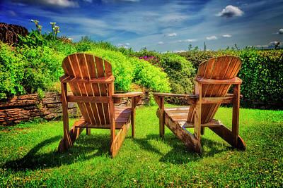 Photograph - Garden View by Debra and Dave Vanderlaan