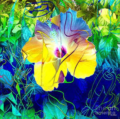 Digital Art - Garden View by Iris Gelbart