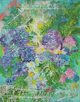 Mixed Media - Garden View by Paper Jewels By Julia Malakoff