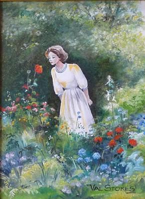Garden Walk A Art Print by Val Stokes