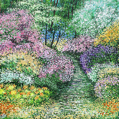Covert Painting - Garden Walk by Diane Griffiths