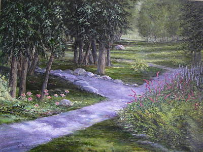 Painting - Garden Walk by Jan Byington