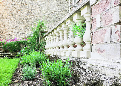 Balusters Photograph - Garden Wall by Tom Gowanlock