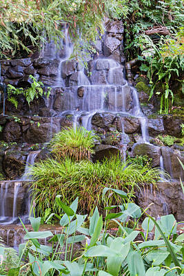 Photograph - Garden Waterfall by Jim Thompson