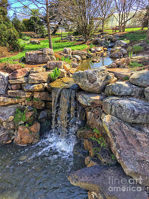 Photograph - Garden Waterfall by Kerri Farley