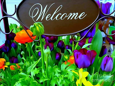 Photograph - Garden Welcome by Ed Weidman