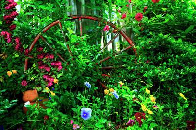 Photograph - Garden Wheel by Debra and Dave Vanderlaan