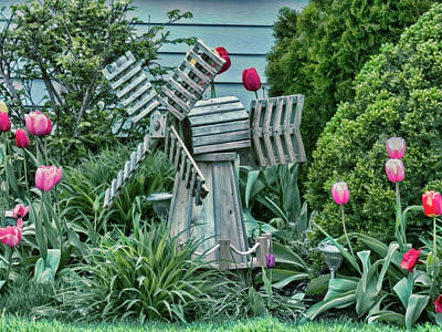 Garden Windmill Art Print