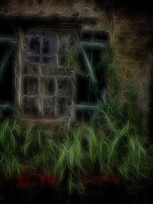 Digital Art - Garden Window 2 by William Horden