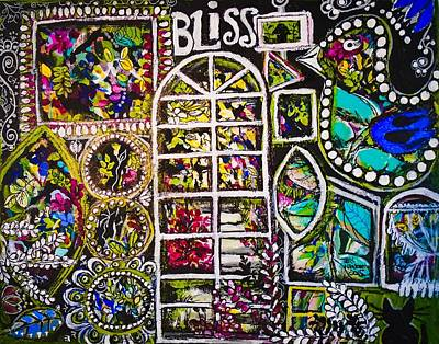Garden Window Bliss Art Print by Teri Newberry