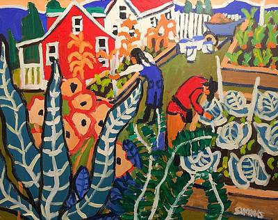 Painting - Gardeners by Brian Simons