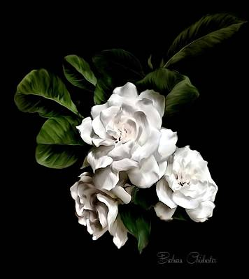 Mixed Media - Gardenia Art Paintography by Barbara Chichester