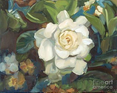 Gardenias Painting - Gardenia En Bleu by Blair Updike