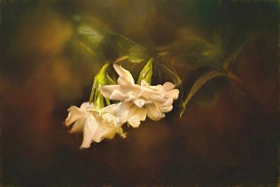 Gardenia Painting - Gardenia In The Garden by Jai Johnson