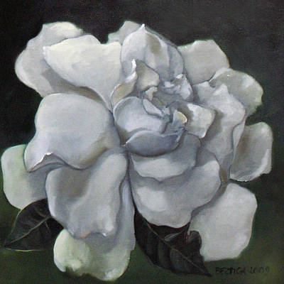 Gardenia Two Art Print by Bertica Garcia-Dubus