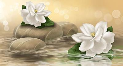 Gardenia Art Print by Veronica Minozzi