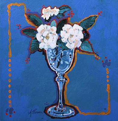 Painting - Gardenias by Adele Bower
