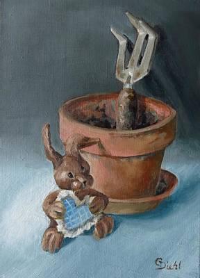 Painting - Gardening Love by Grace Diehl