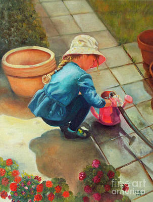 Painting - Gardening by Marlene Book
