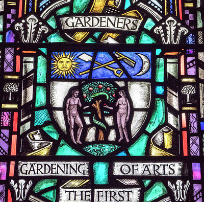 Photograph - Gardening Stained Glass by Jean Noren