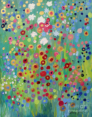 Painting - Garden's Dance by Stacey Zimmerman
