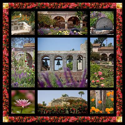 Gardens Of Mission San Juan Capistrano Art Print by Art Block Collections