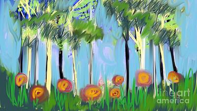 Digital Art - Gardenscape 1 by Elaine Lanoue