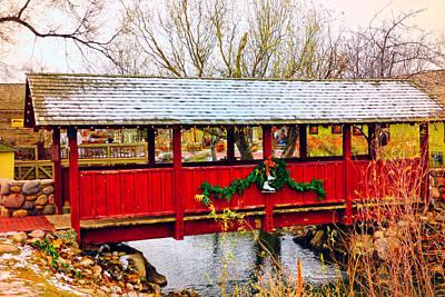 David Bowie - Gardner Village - Christmas Bridge by Image Takers Photography LLC - Carol Haddon