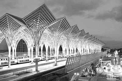 Photograph - Gare Do Oriente Station Monochrome by Marek Stepan