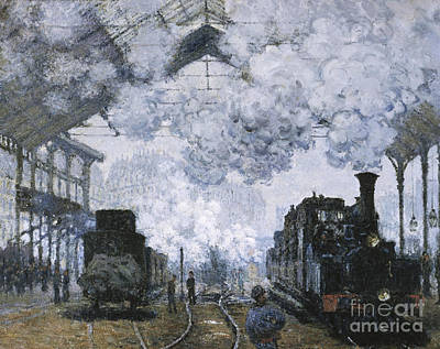 Gare Painting - Gare Saint-lazare by Celestial Images