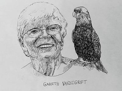 Drawing - Gareth Vandegrift by Larry Whitler