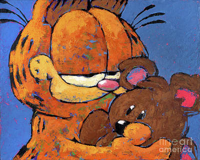 Cat Cartoon Painting - Garfield And Pooky  by The Garfield Collection