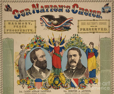 Anti-slavery Poster Photograph - Garfield-arthur Campaign Poster, 1880 by Science Source