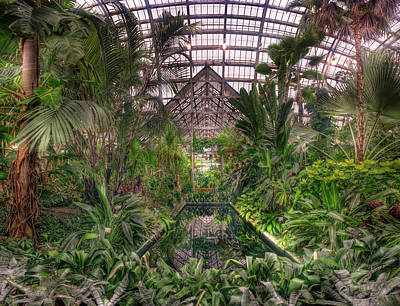 Garfield Photograph - Garfield Park Conservatory Reflecting Pool by Steve Gadomski