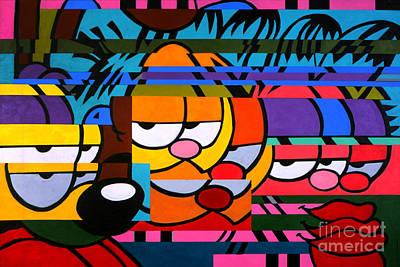 Cat Cartoon Painting - Garfield's Fragmented Friends by The Garfield Collection