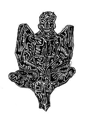 Abstract Digital Art Drawing - Gargoyle by AR Teeter