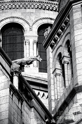 Sacre Coeur Photograph - Gargoyle At Sacred Heart by John Rizzuto