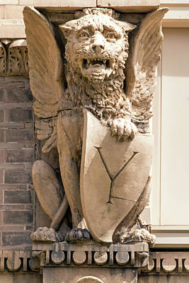 Ira Marcus Royalty-Free and Rights-Managed Images - Gargoyle at Yerkes Observatory  by Ira Marcus