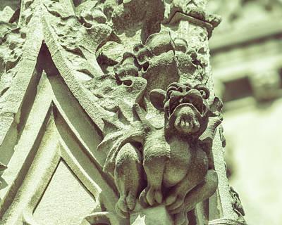 Photograph - Gargoyle B On St Mary Redcliffe Church Bristol by Jacek Wojnarowski