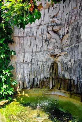 Photograph - Gargoyle Fish Fountain Of Biltmore Estate by Ginger Wakem