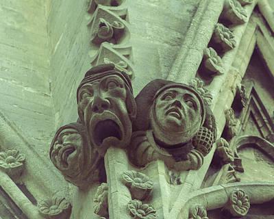 Photograph - Gargoyle H On St Mary Redcliffe Church Bristol by Jacek Wojnarowski