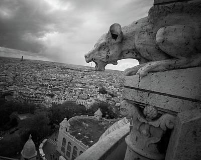 Gargoyle Photograph - Gargoyle Hungry For The Eiffel Tower by James Udall