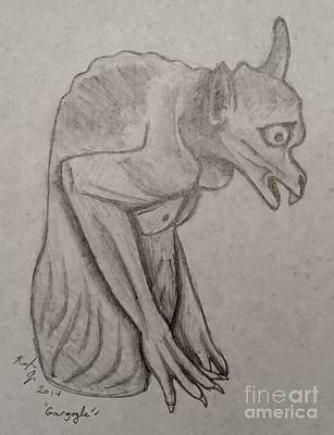 Gargoyle Drawing - Gargoyle by Kayla Jimenez