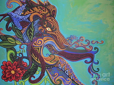 Fanciful Painting - Gargoyle Lion by Genevieve Esson